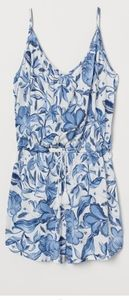 H&M blue floral Romper size small